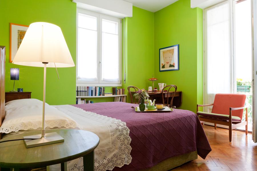 Camere e colazione bed and breakfast il ghiro - Camera da letto verde mela ...