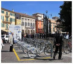 Verona bike sharing - l postazione di piazza Bra